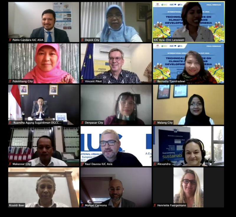 Indonesia: IUC Asia's Final Webinar on Technical Assistance for Climate-Action-Plans Development